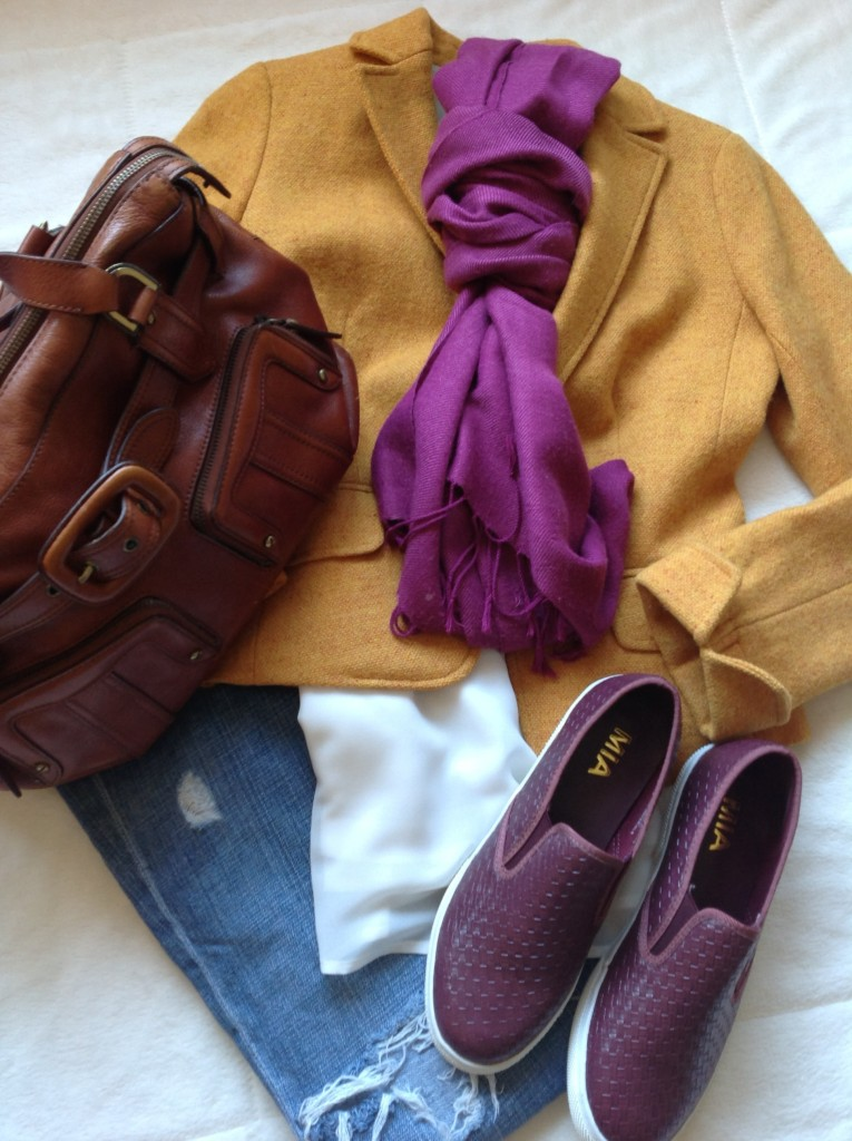 Flatly of brown and burgundy