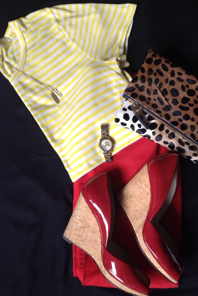 yellow and red wedges