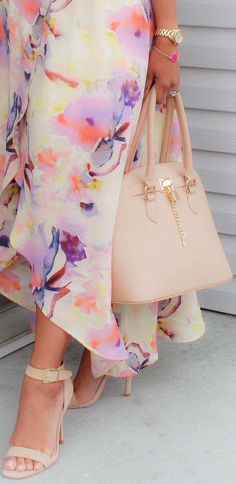 This Season's Gold // Blush Handbag and Sandals