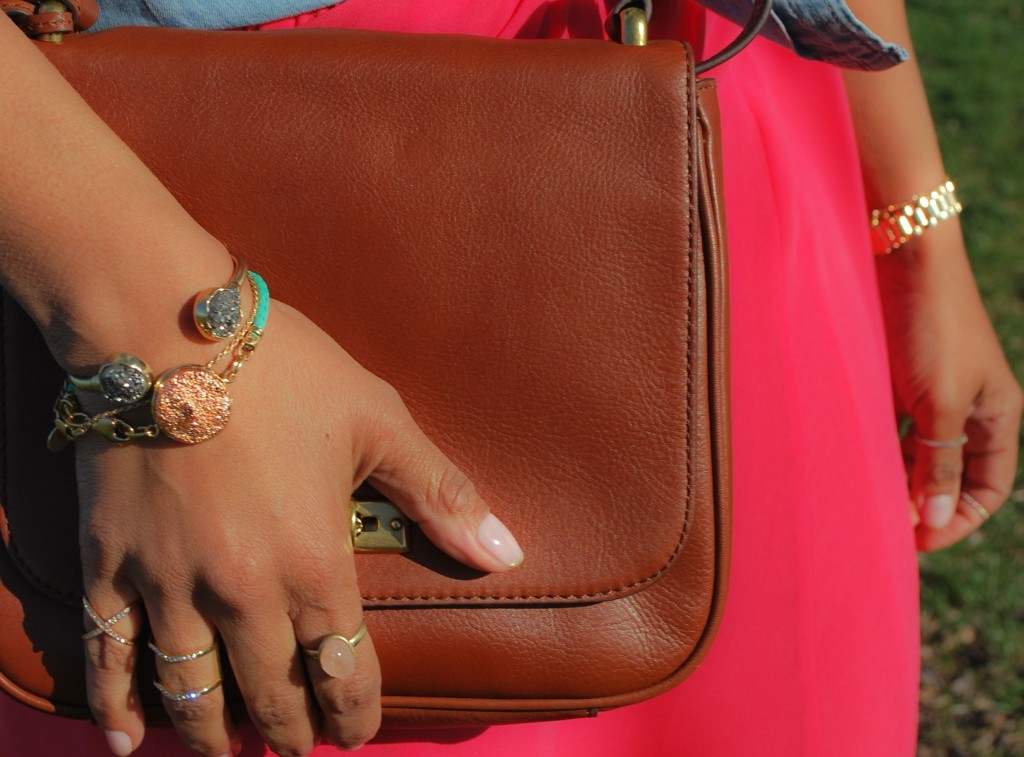 This Season's Gold // Saddle Bag and bracelets