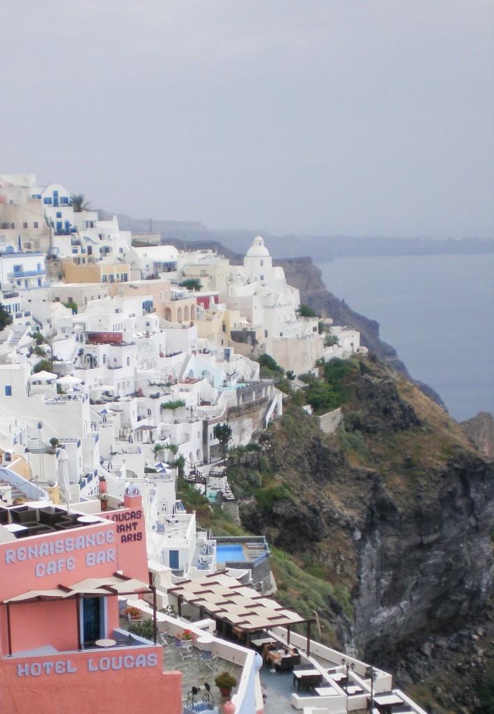 View of Caldera in Santorini