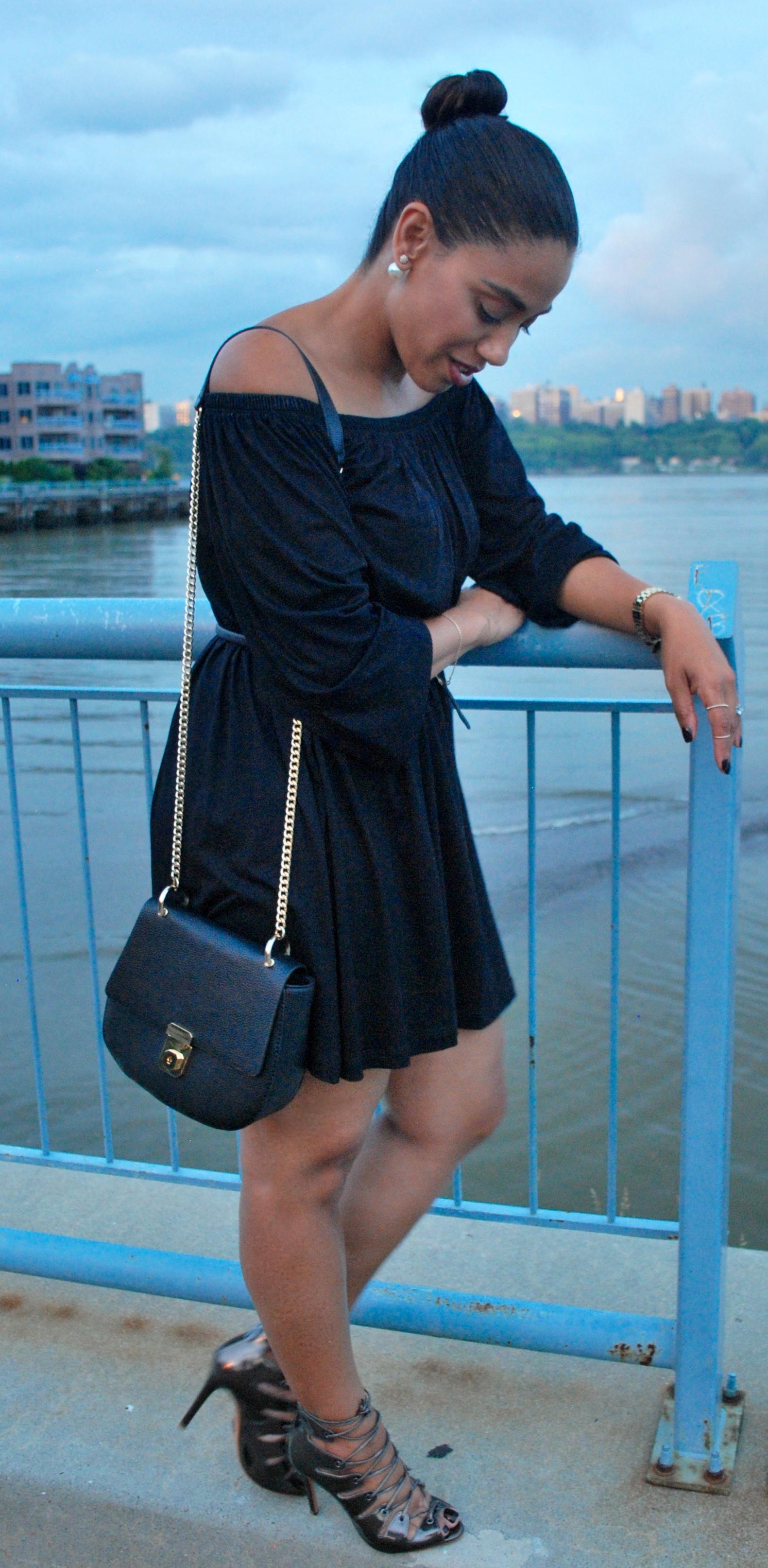 Off Should black dress