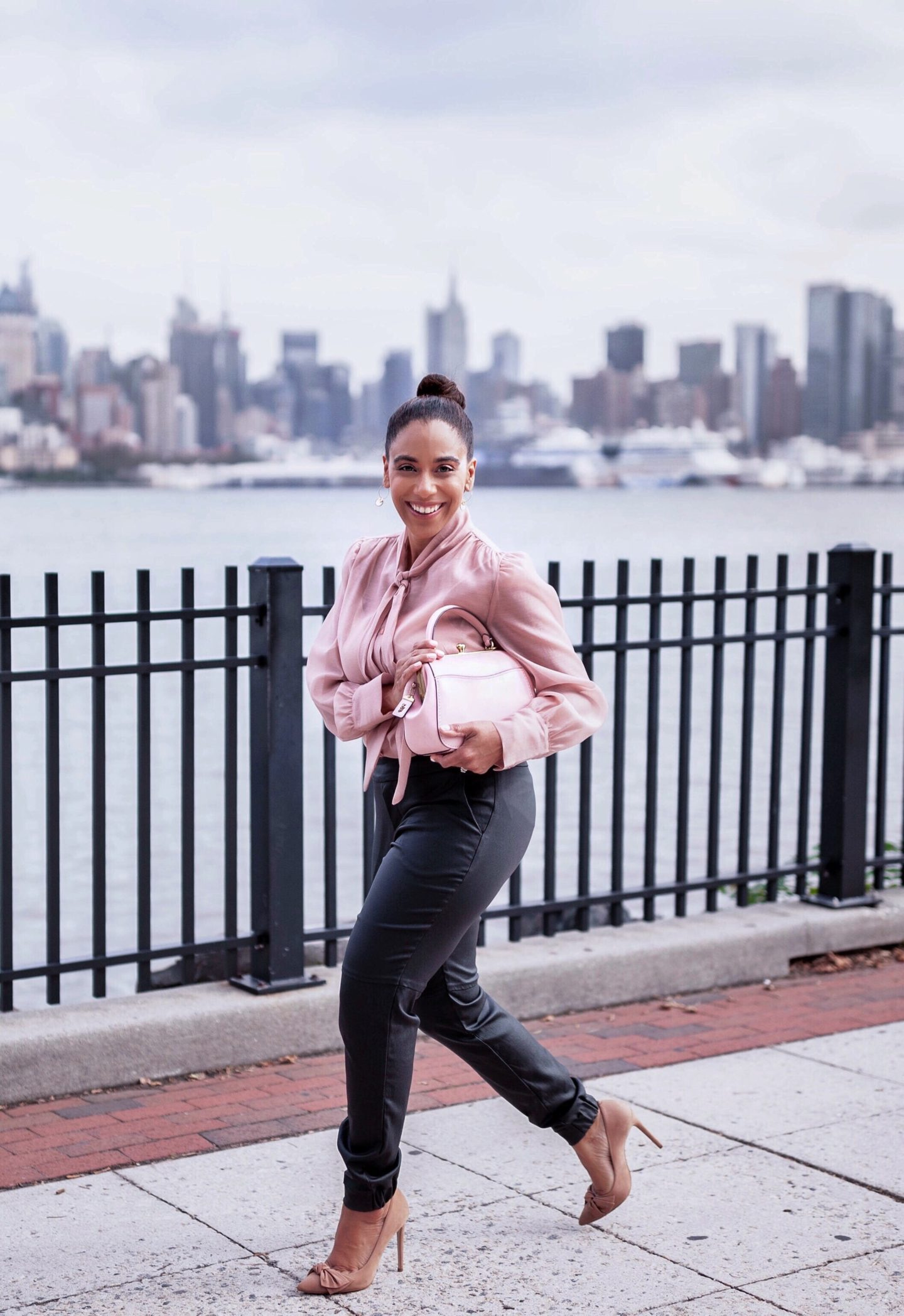 Pretty in Pink with Coach bag