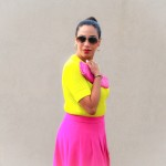 Saying Hello in Neon and Stripes