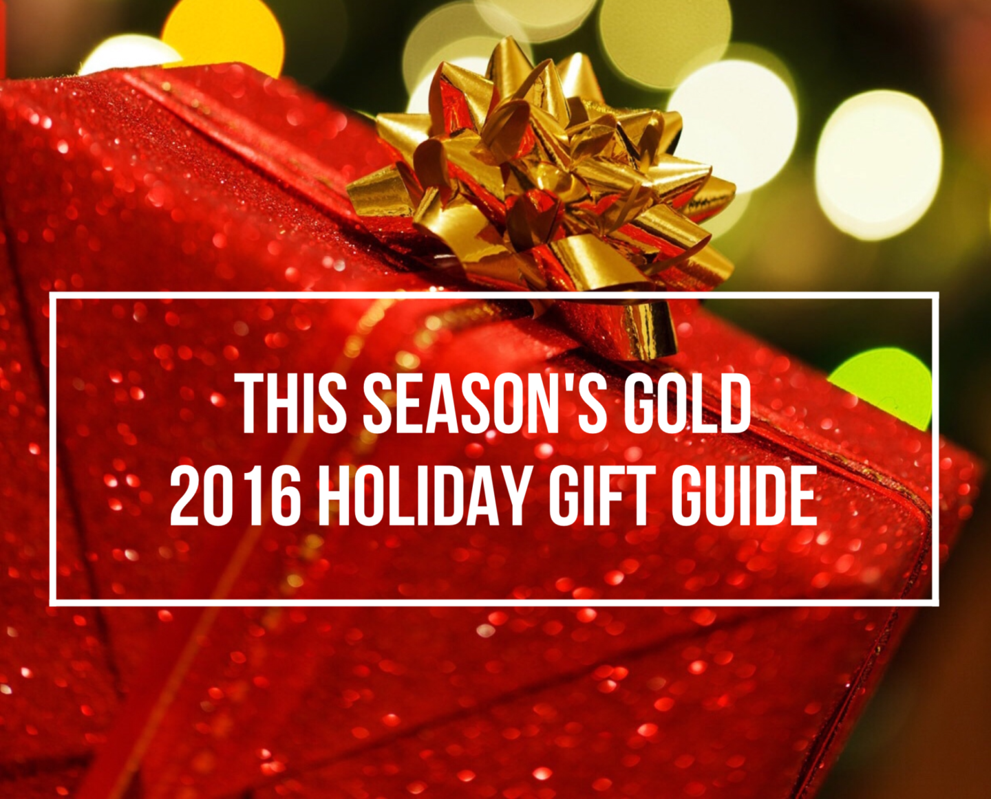2016 Holiday Season Gift Guide