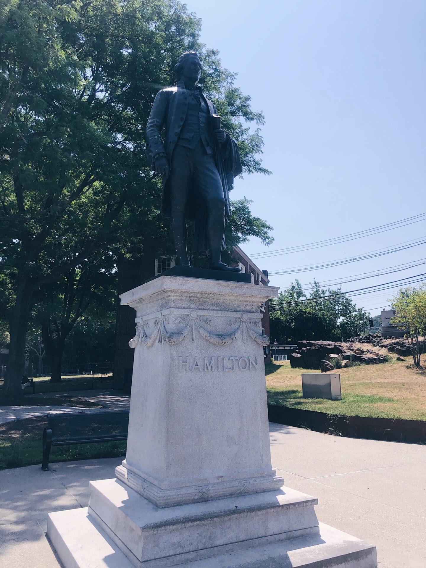 Hamilton Statue Paterson Waterfall