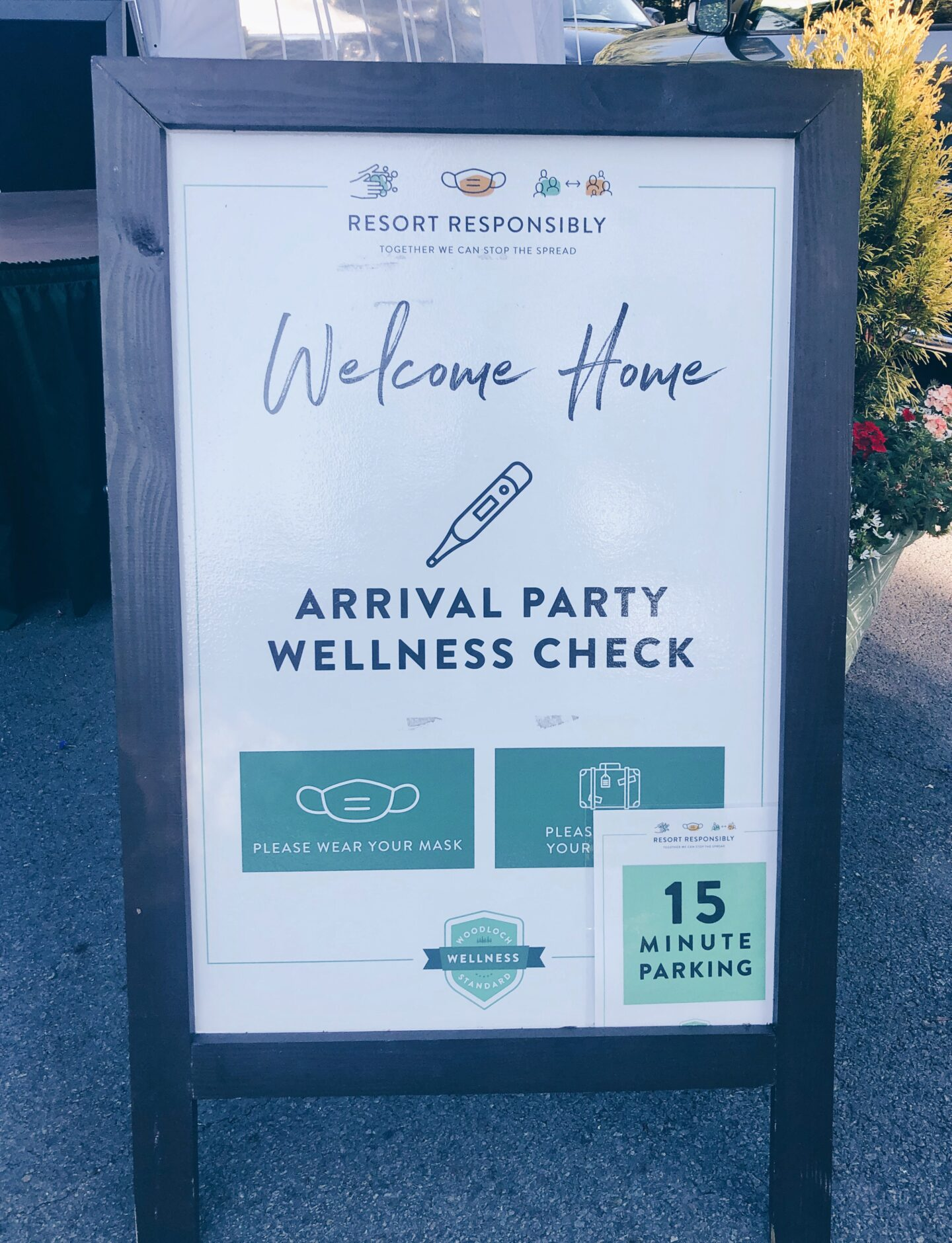 Woodloch Resort Weekend sign