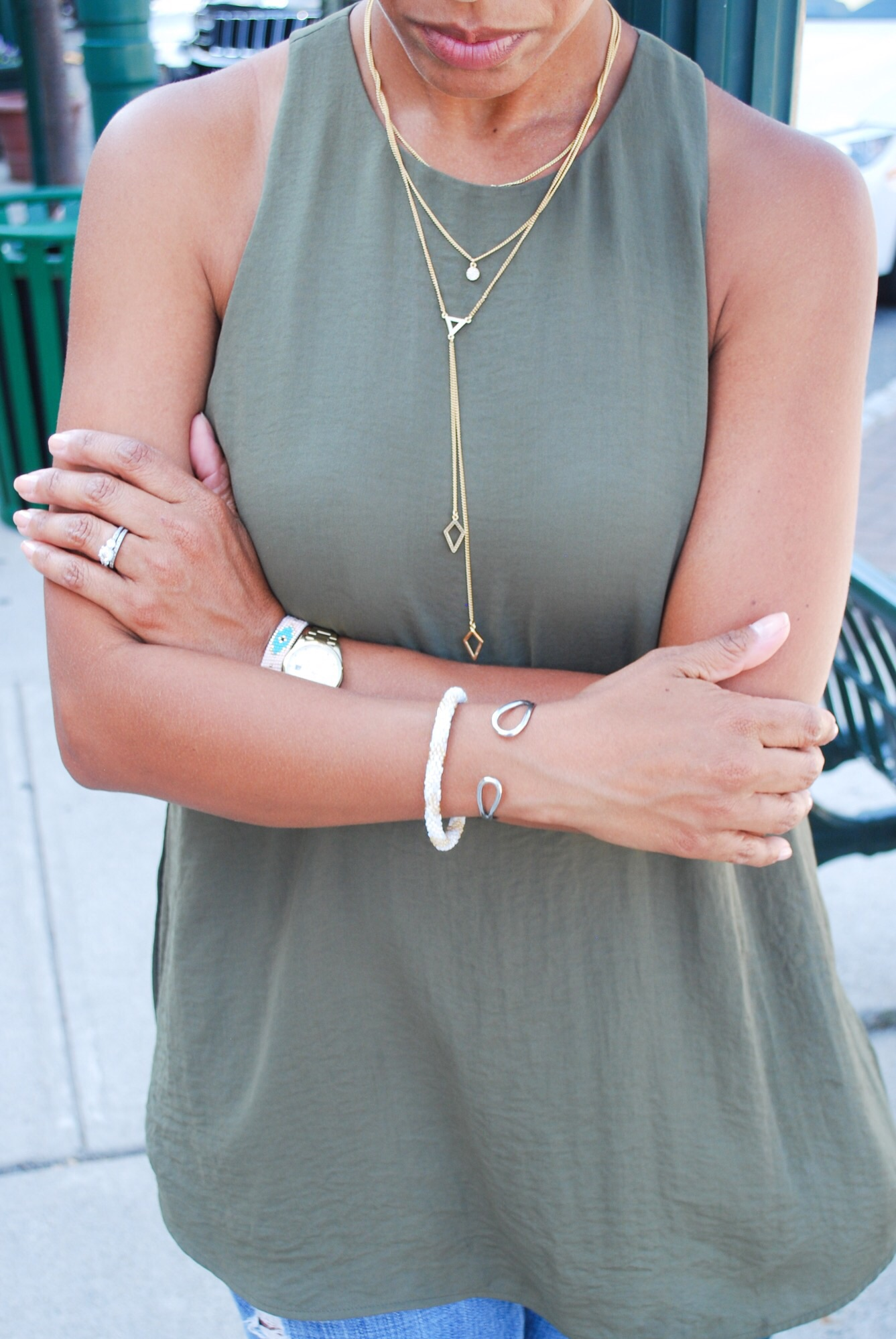 Babule Bar Layered Necklace