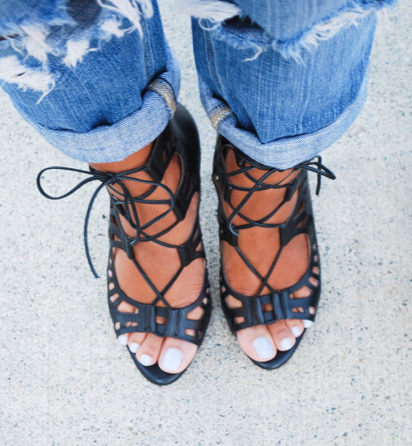 BCBG strappy heels