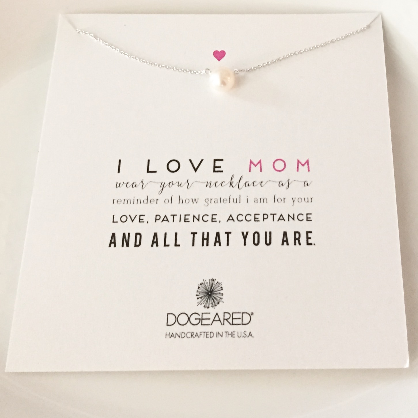 Dogeared Pearl Necklace for Mom