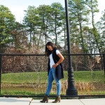 Warm December :: Navy Vest and Ankle Boots
