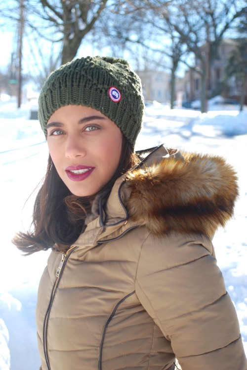 Snow Day // Cozy Pompom Hat & Quilted Jacket