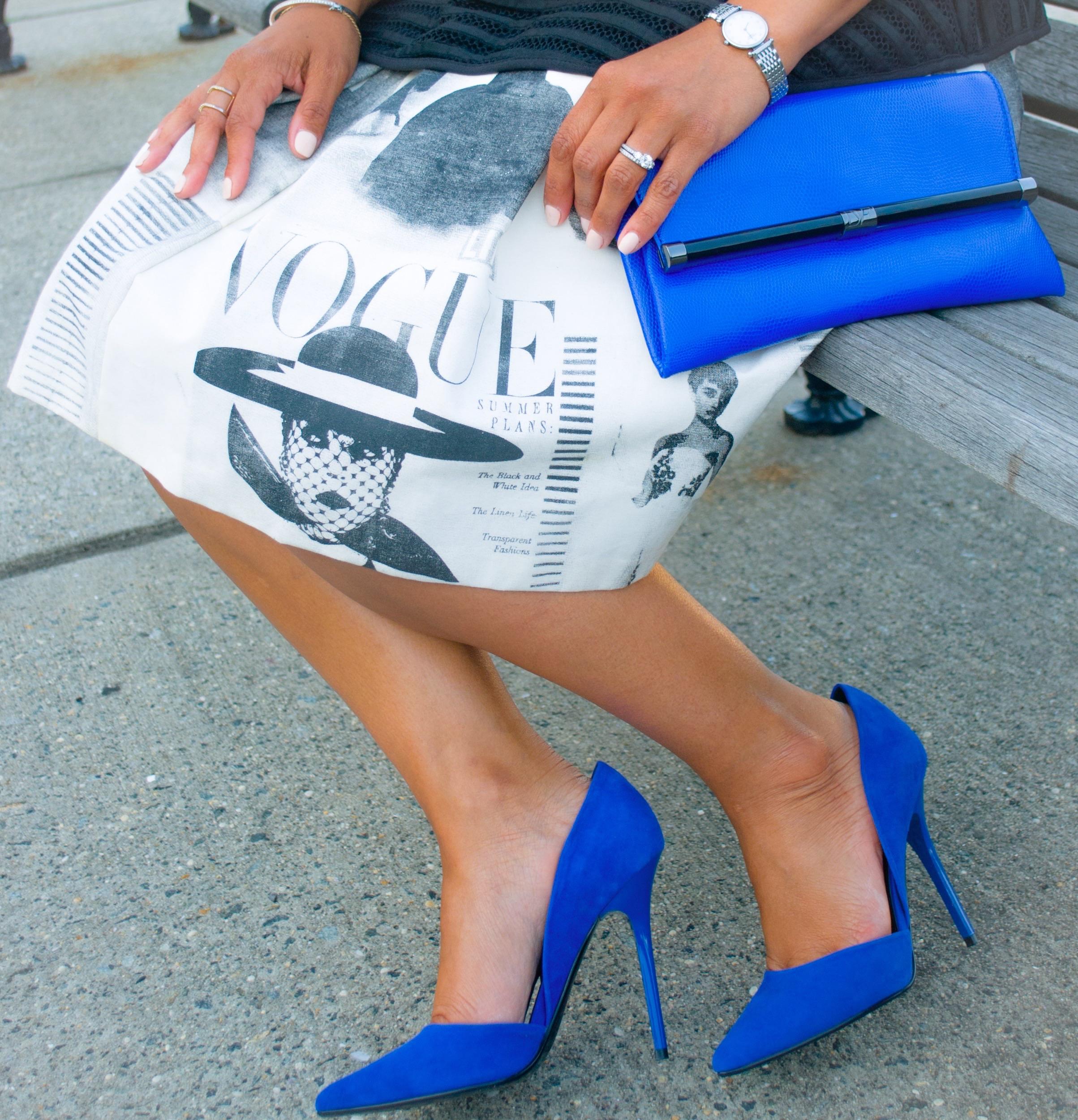 News Print Skirt