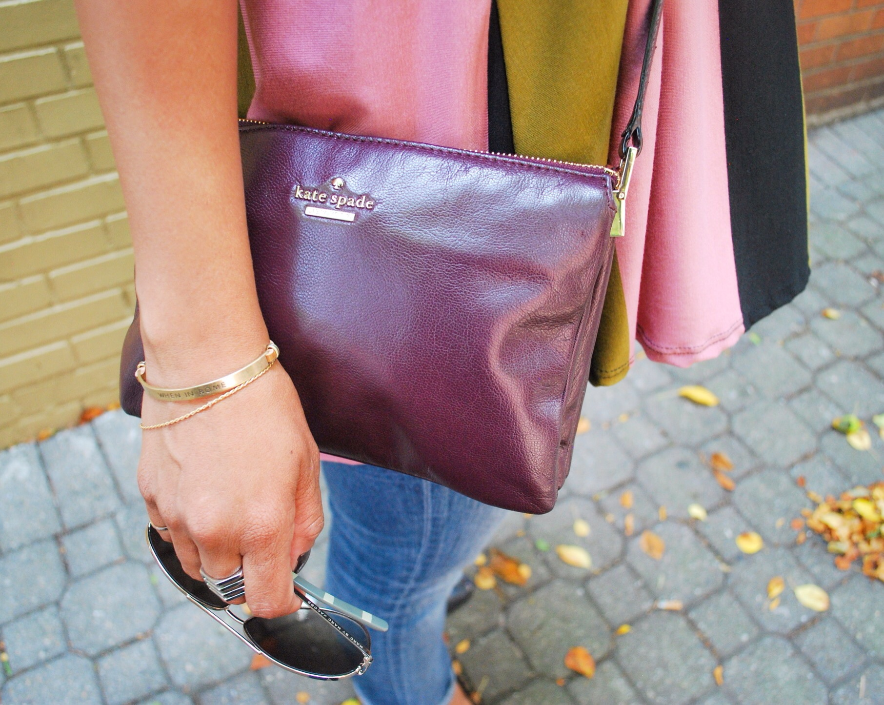 Kate Spade purple crossbody handbag