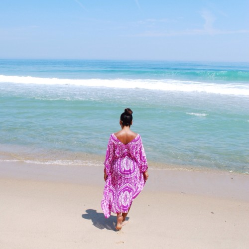 Summer on the Cape :: Beach Looks in Purple and Gold