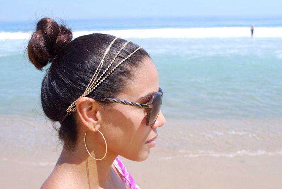 Gold strain hairband