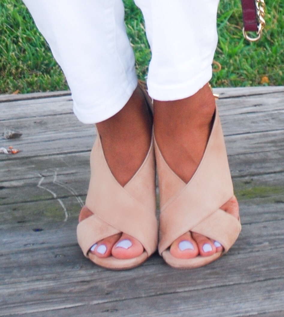 Nude Suede Fall Sandals