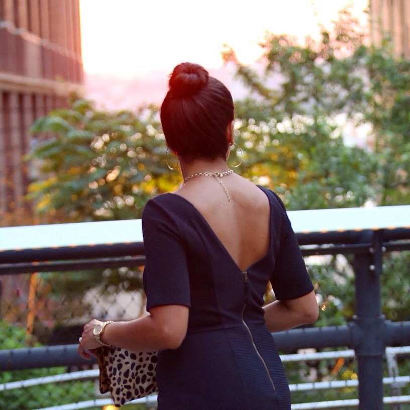 Low Back Black Dress