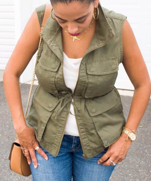 Hangout :: Strappy Sandals, Olive Vest & Links à la Mode!