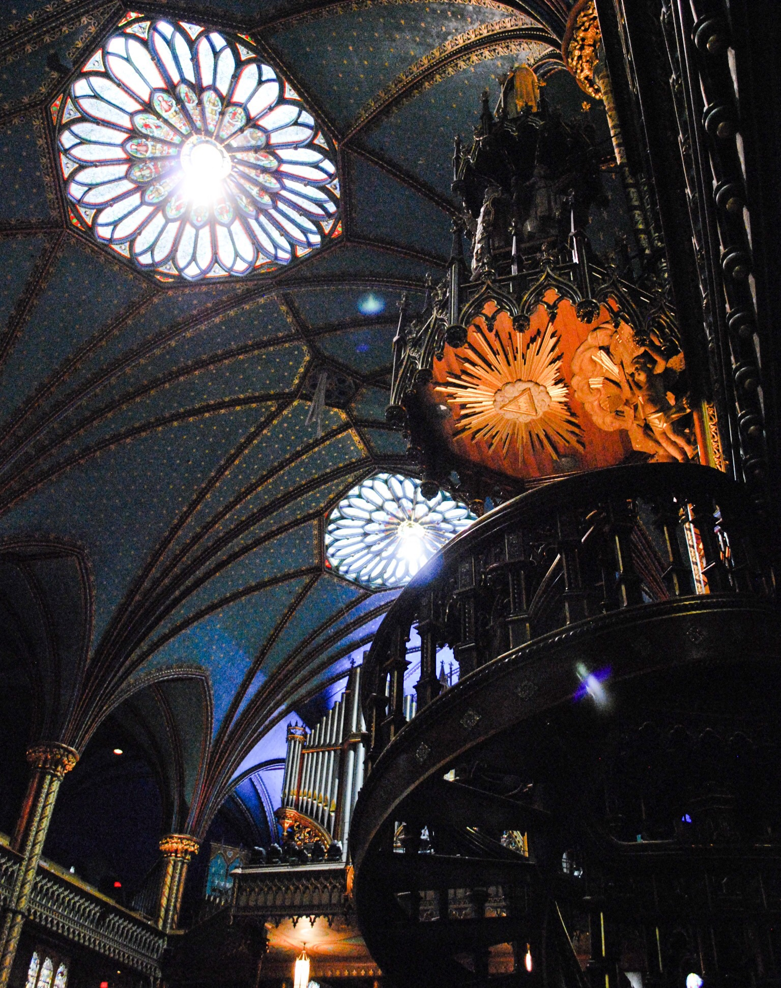 Inside Notre Dame Cathedral Montreal