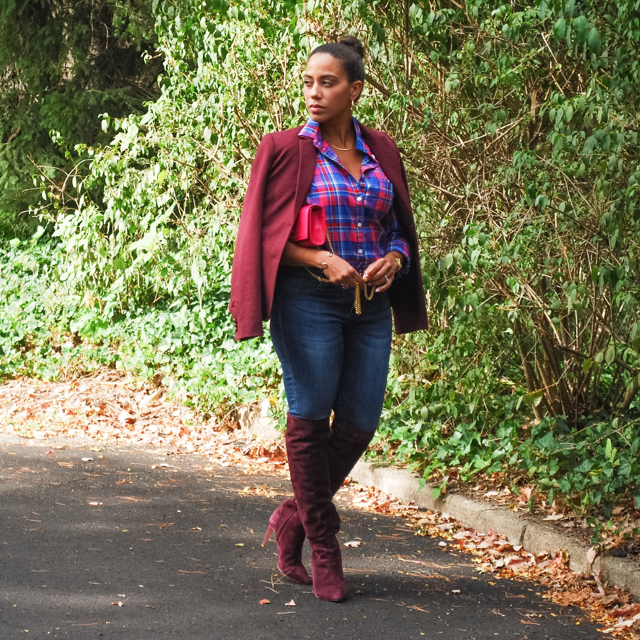 Burgundy Over the Knee Boots 3