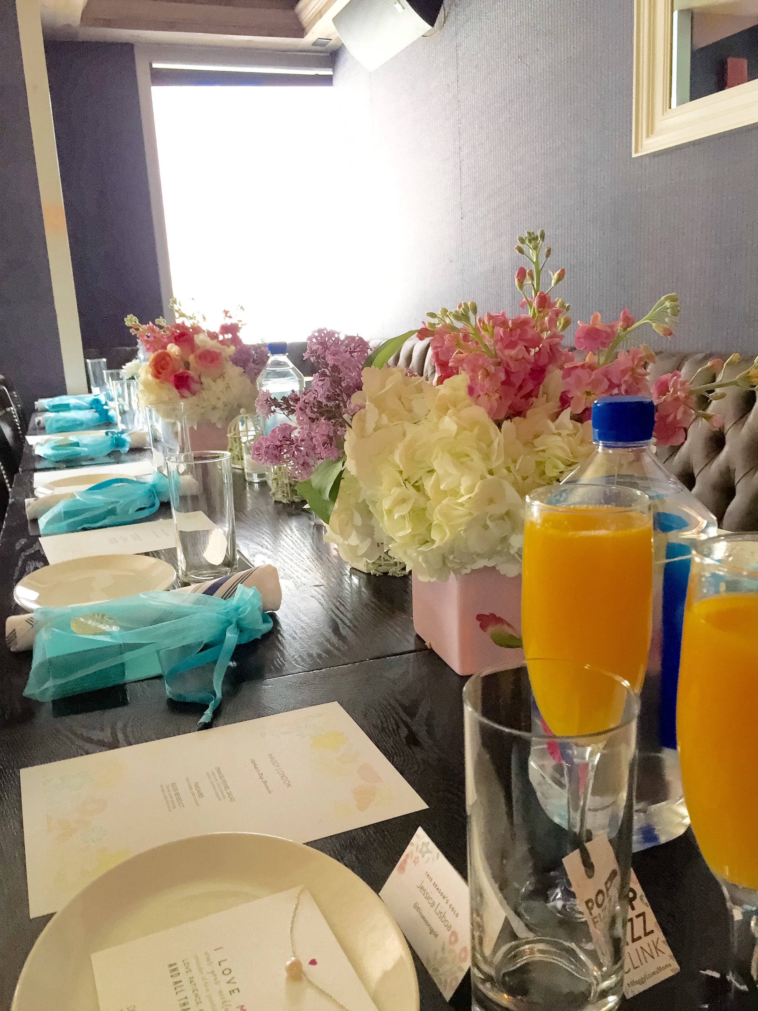 Maggy London NYC Brunch table decor