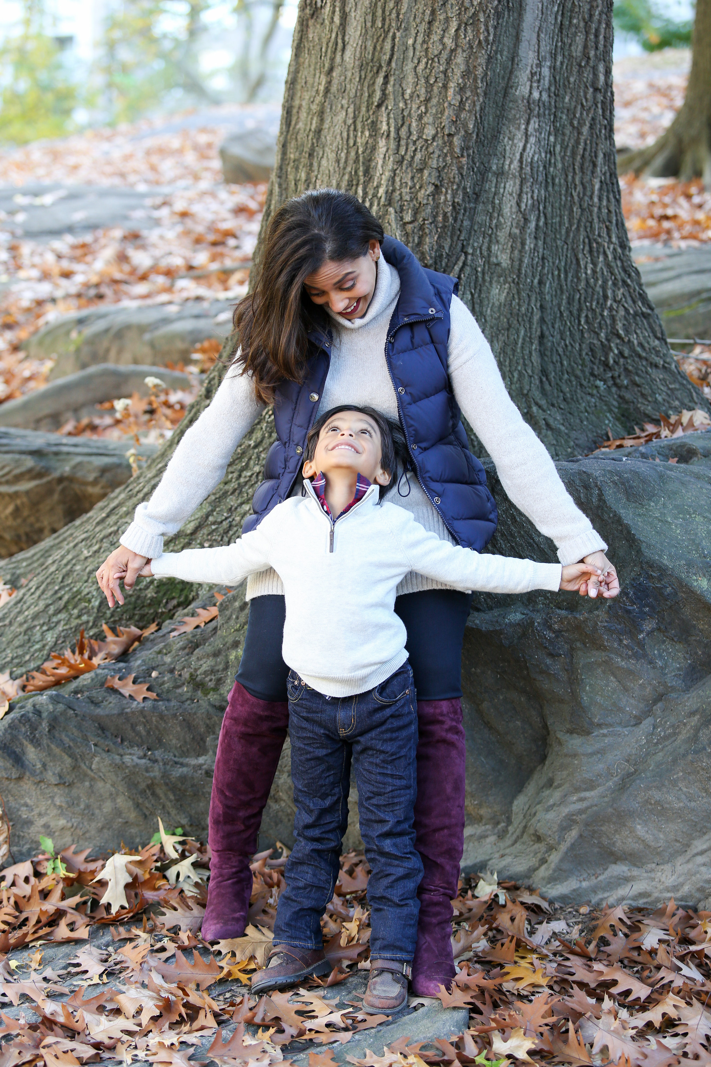 Mother and Son Fall Photoshoot