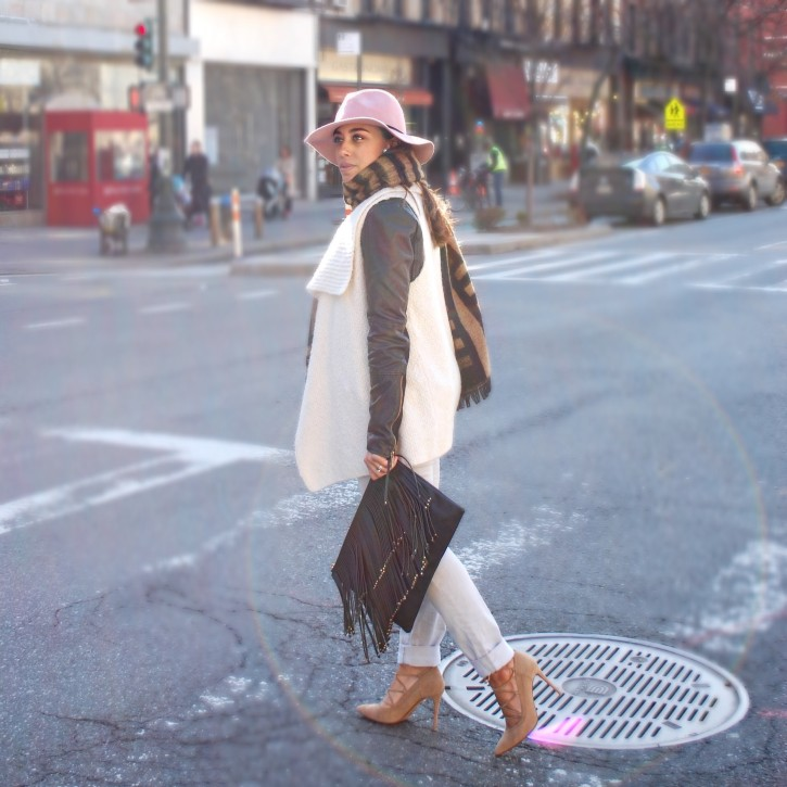 New York Fashion // Layered & Strappy Suede