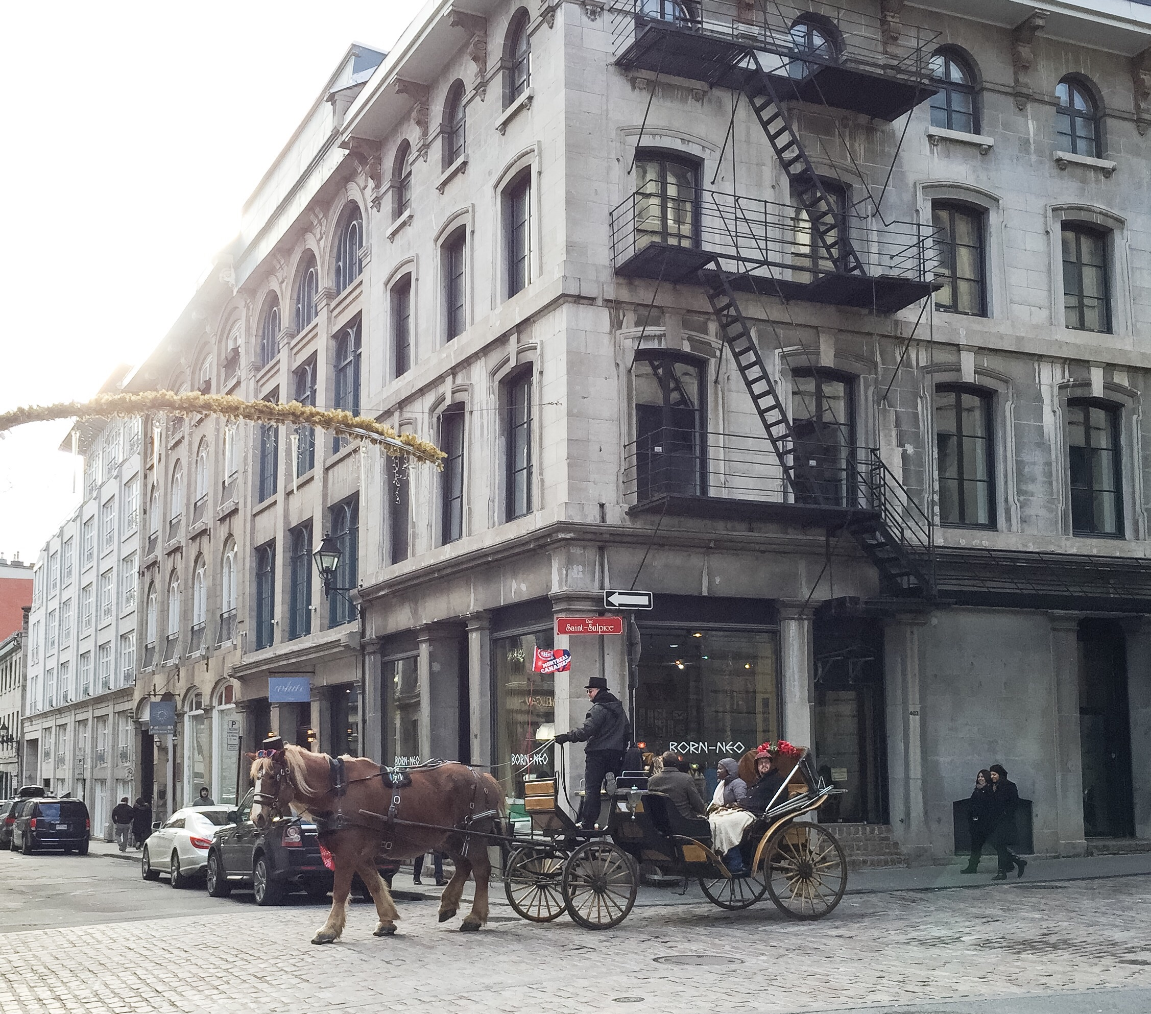 Old Montreal horse carriage