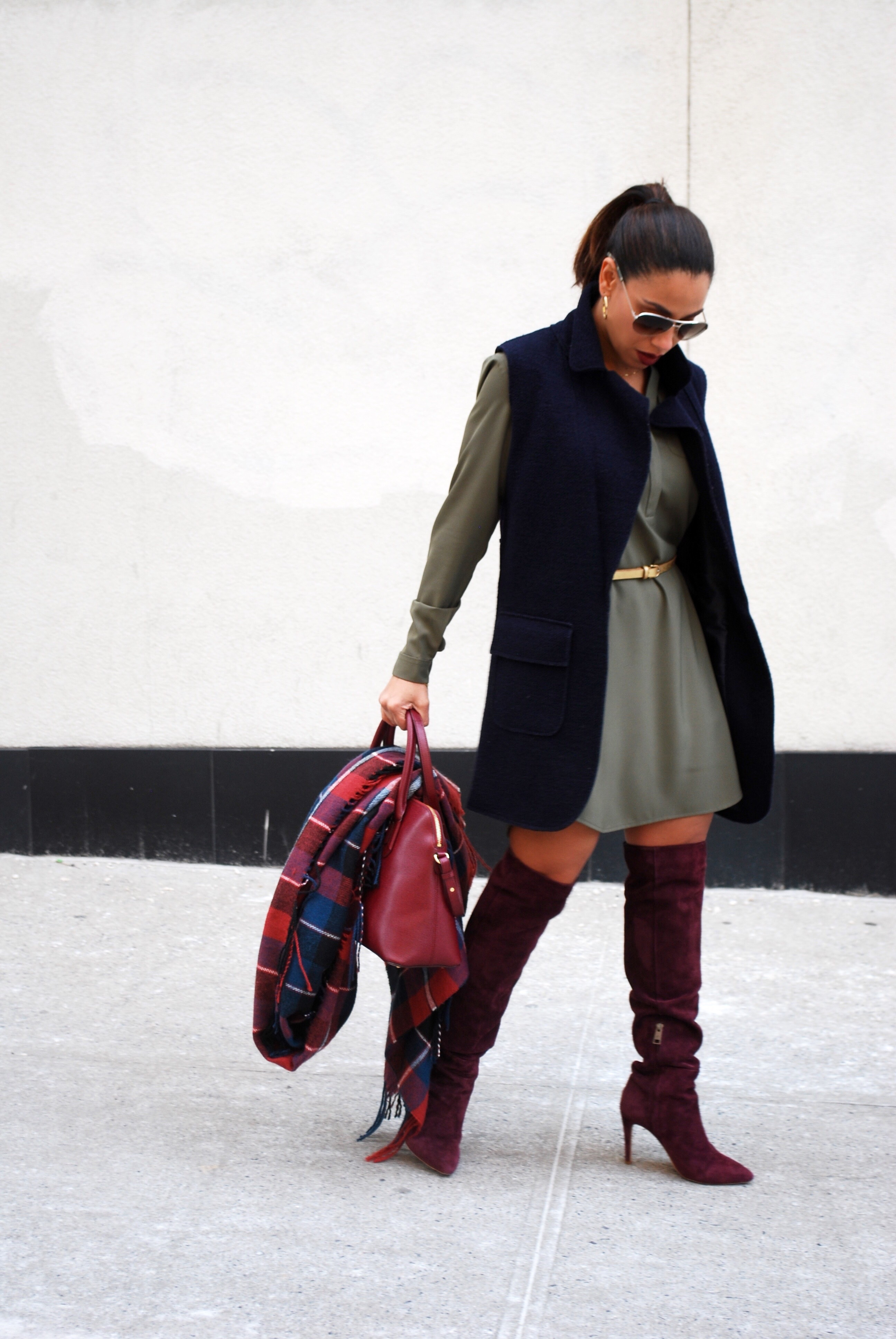 This Season's Gold // Styling Olive, Navy and Wine 6