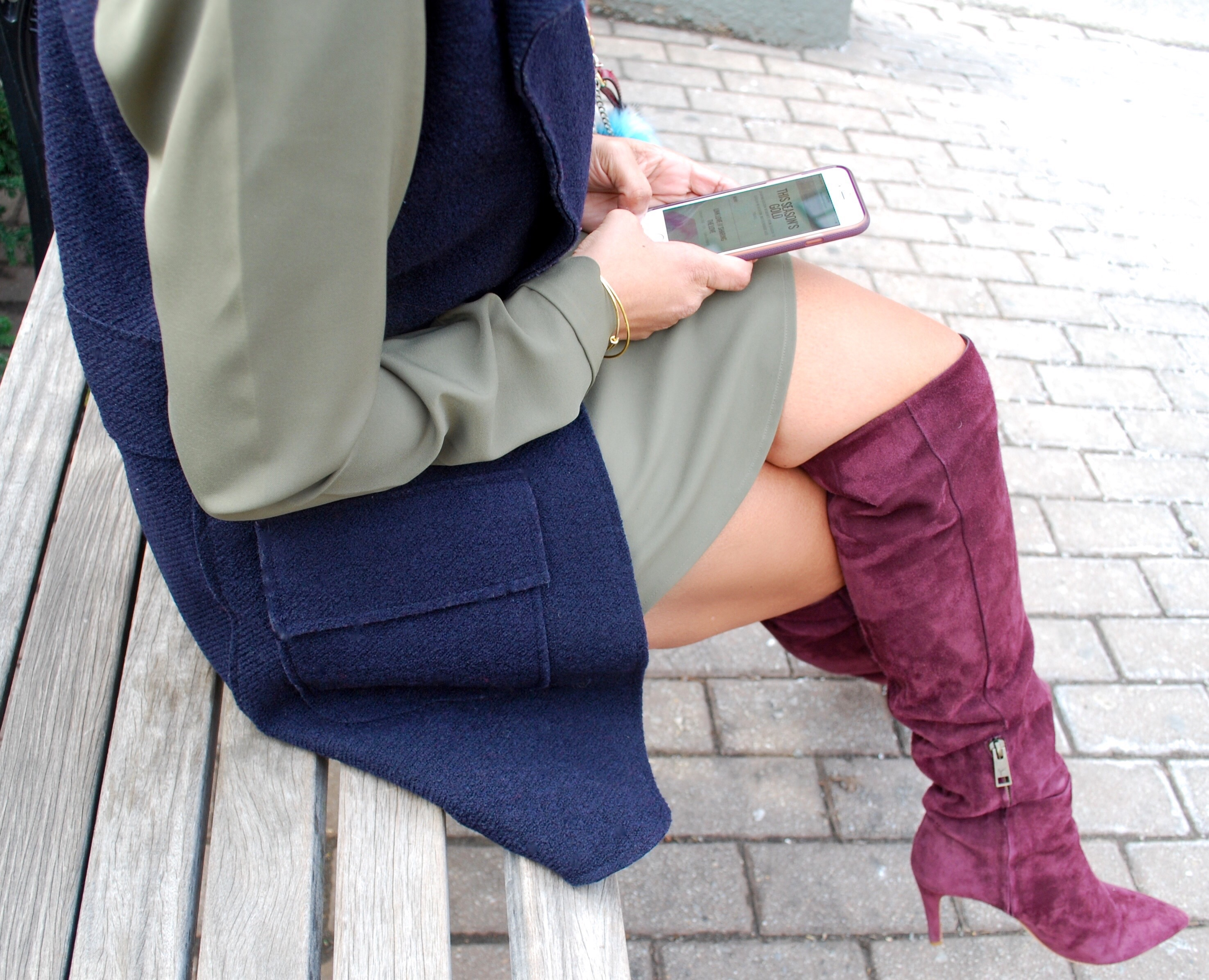 This Season's Gold // Styling Olive, Navy and Wine 3