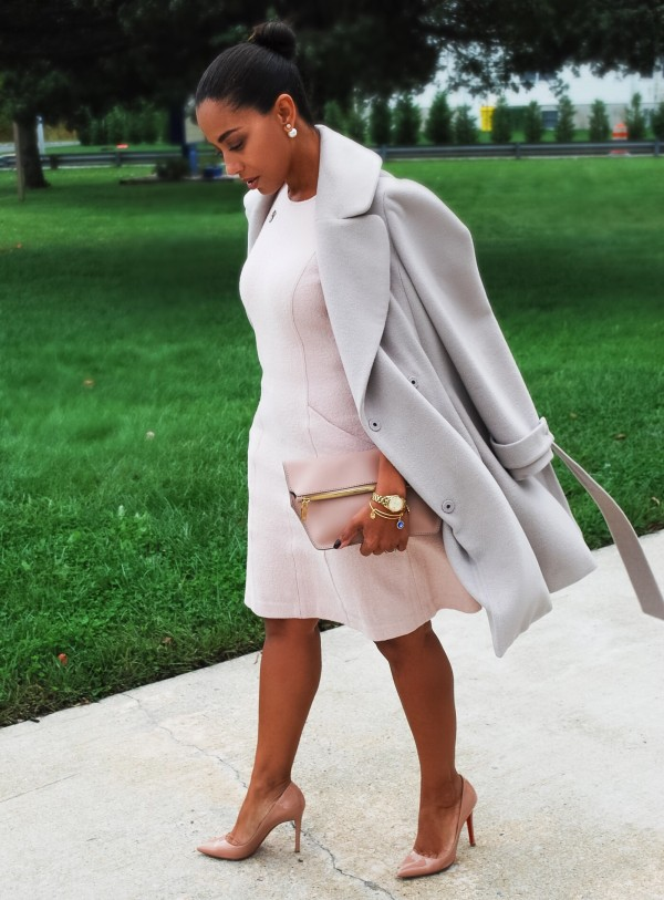 Blush and Gray Winter neutrals