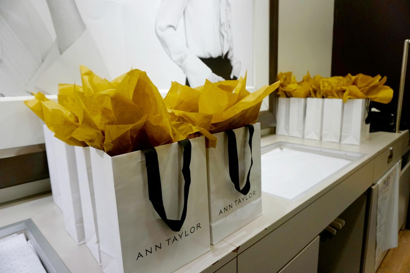 This Season's Gold //Ann Taylor swag bag