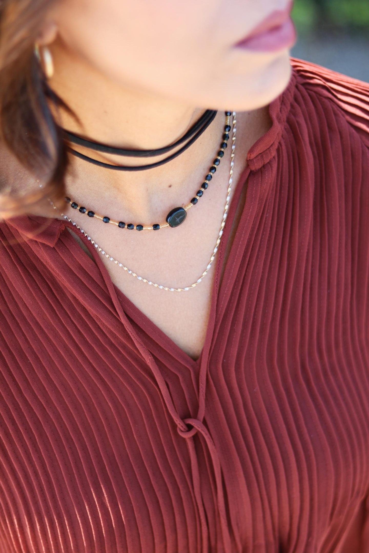 This Season's Gold // Layered chokers