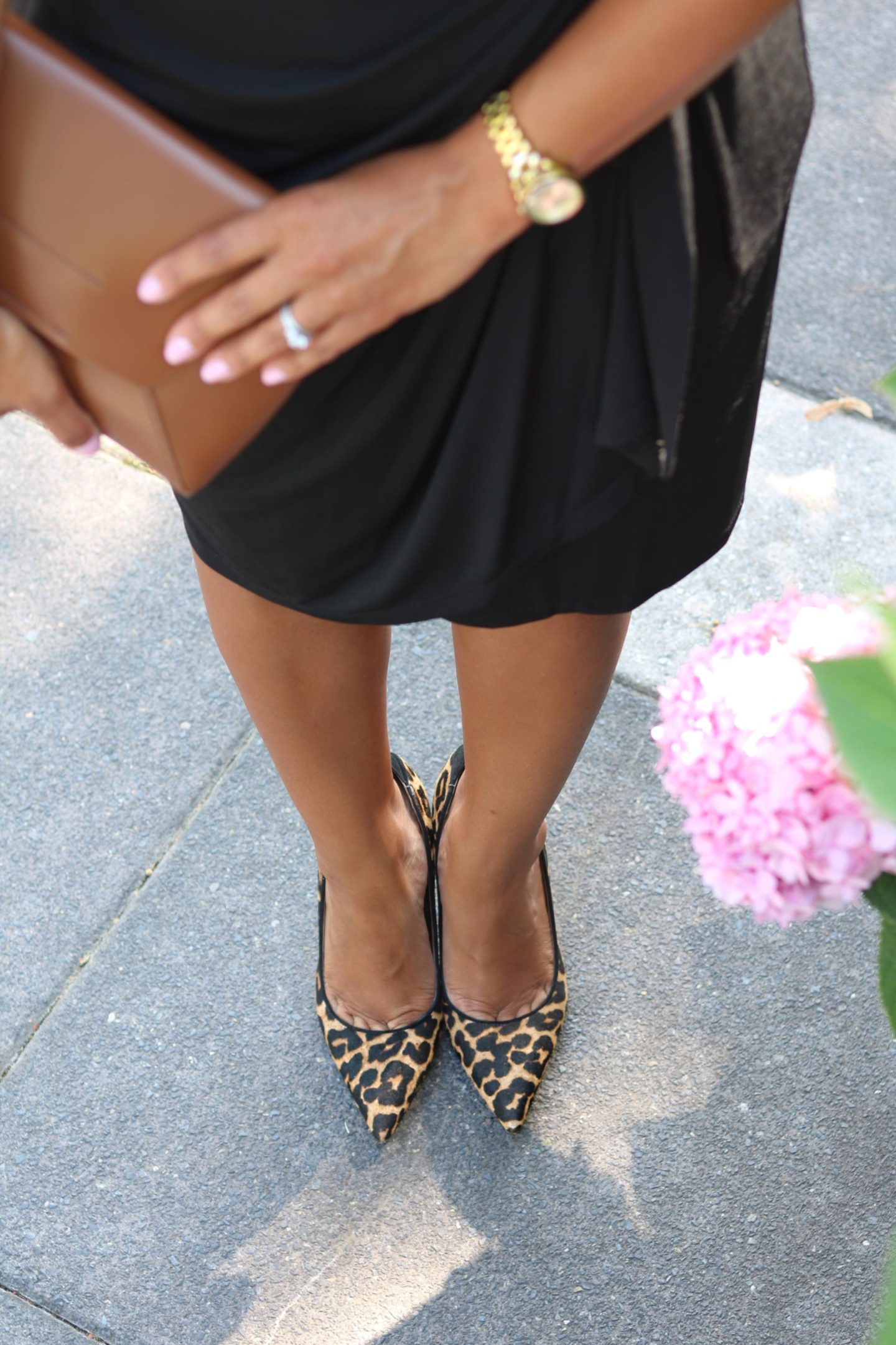 This Season's Gold // Changing Season - Wrap Dress and Leopard Pumps