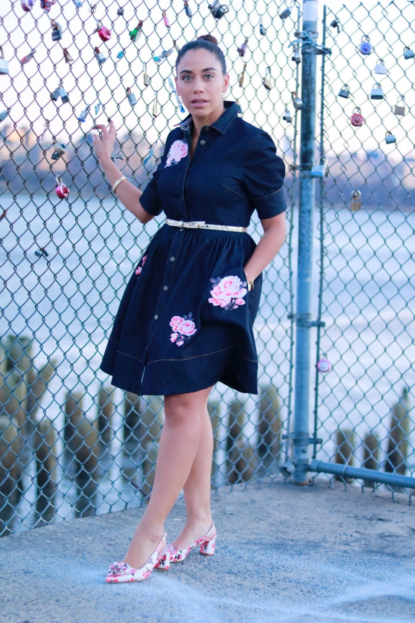 kate spade denim dress