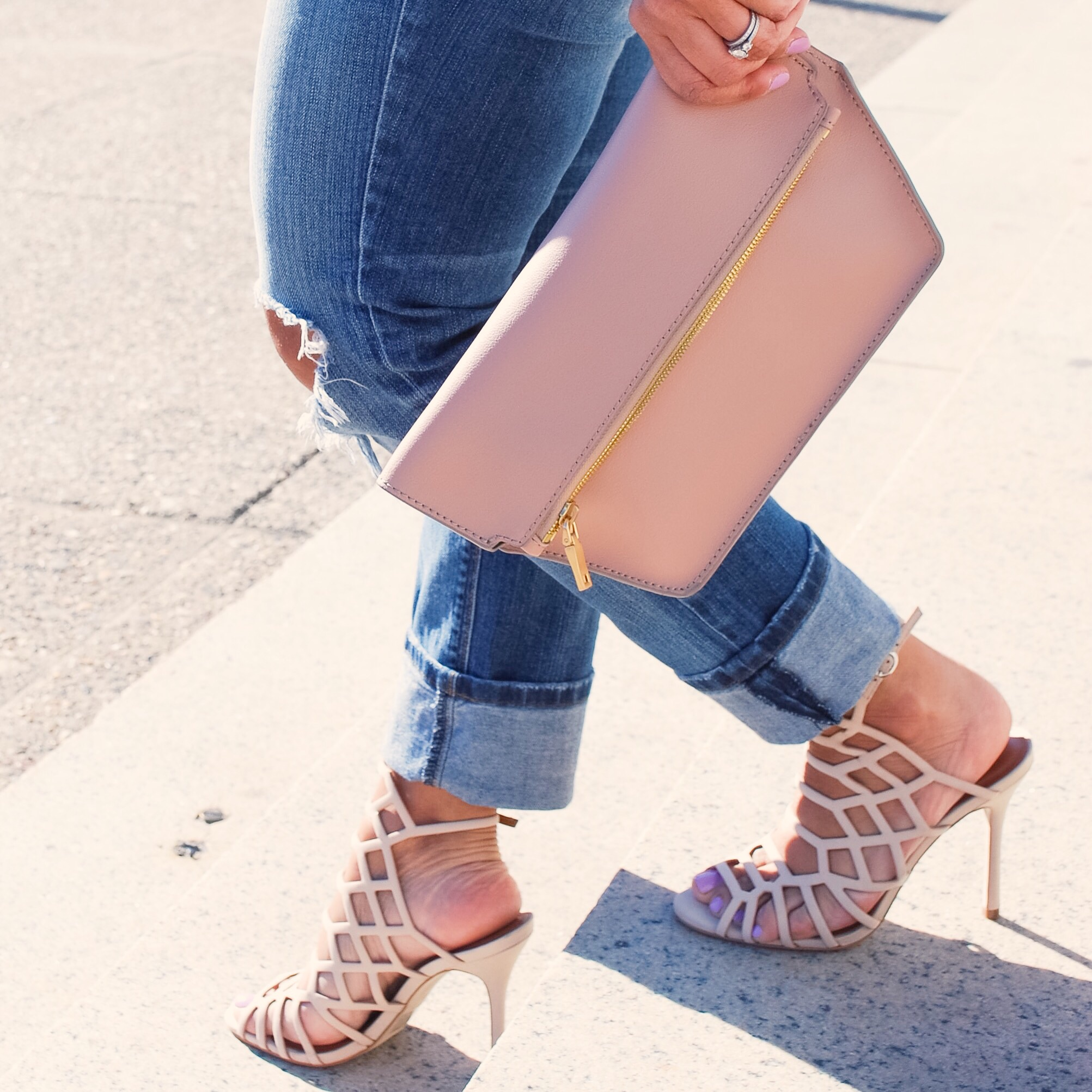This Season's Gold // Blush clutch