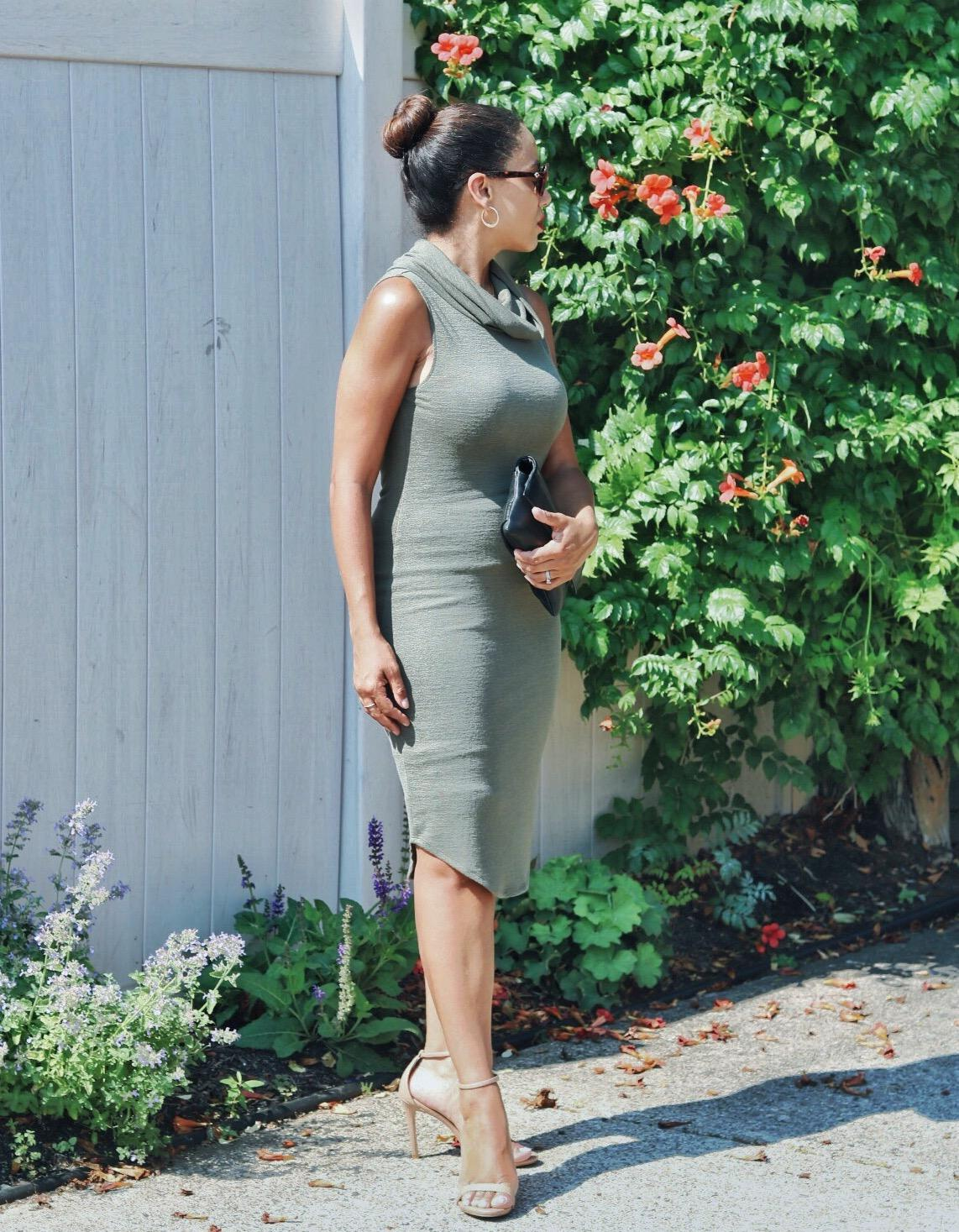 This Season's Gold // Olive sleeveless dress