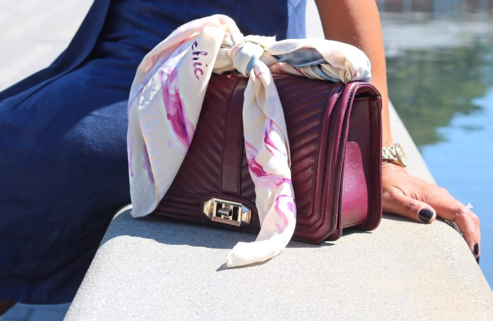 This Season's Gold // Scarf handle for handbag