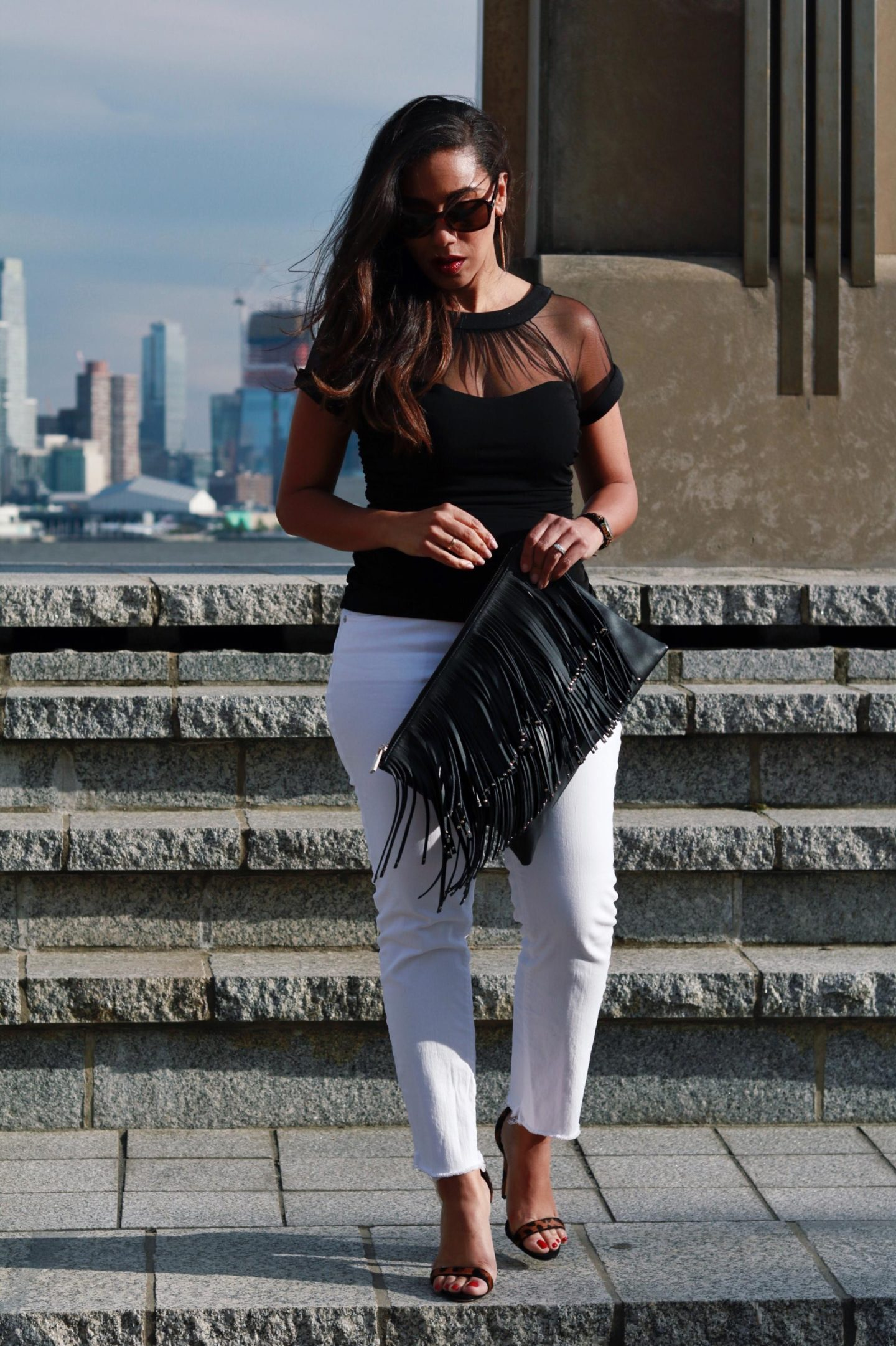 styling white jeans