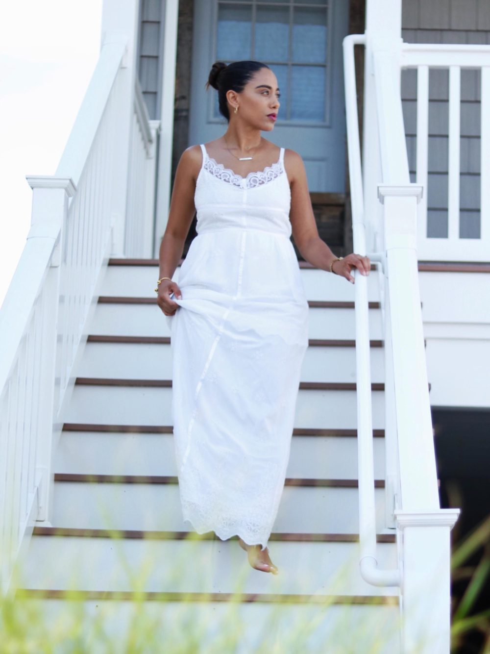 Summer Light // White Lace Maxi Dress