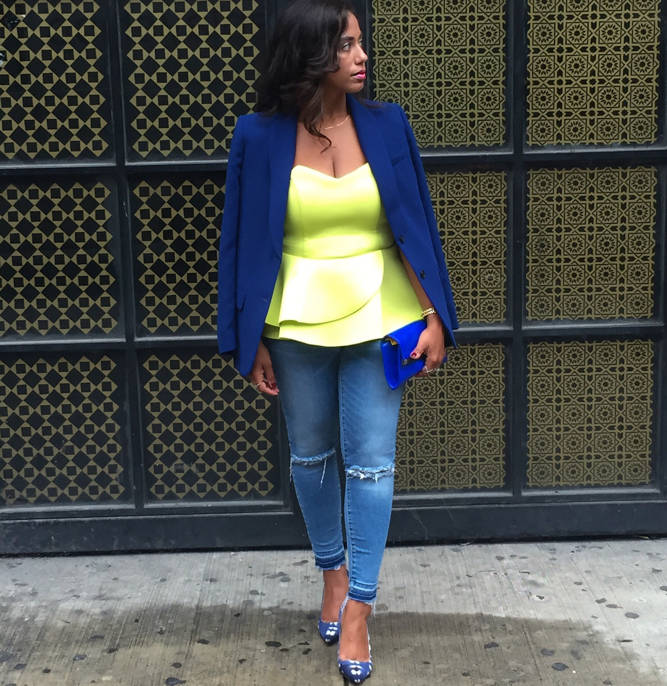Yellow and Blue streetstyle