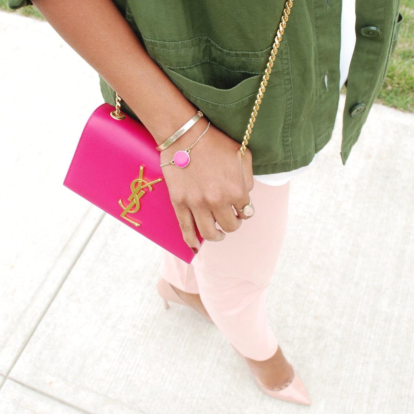 ysl pink handbag