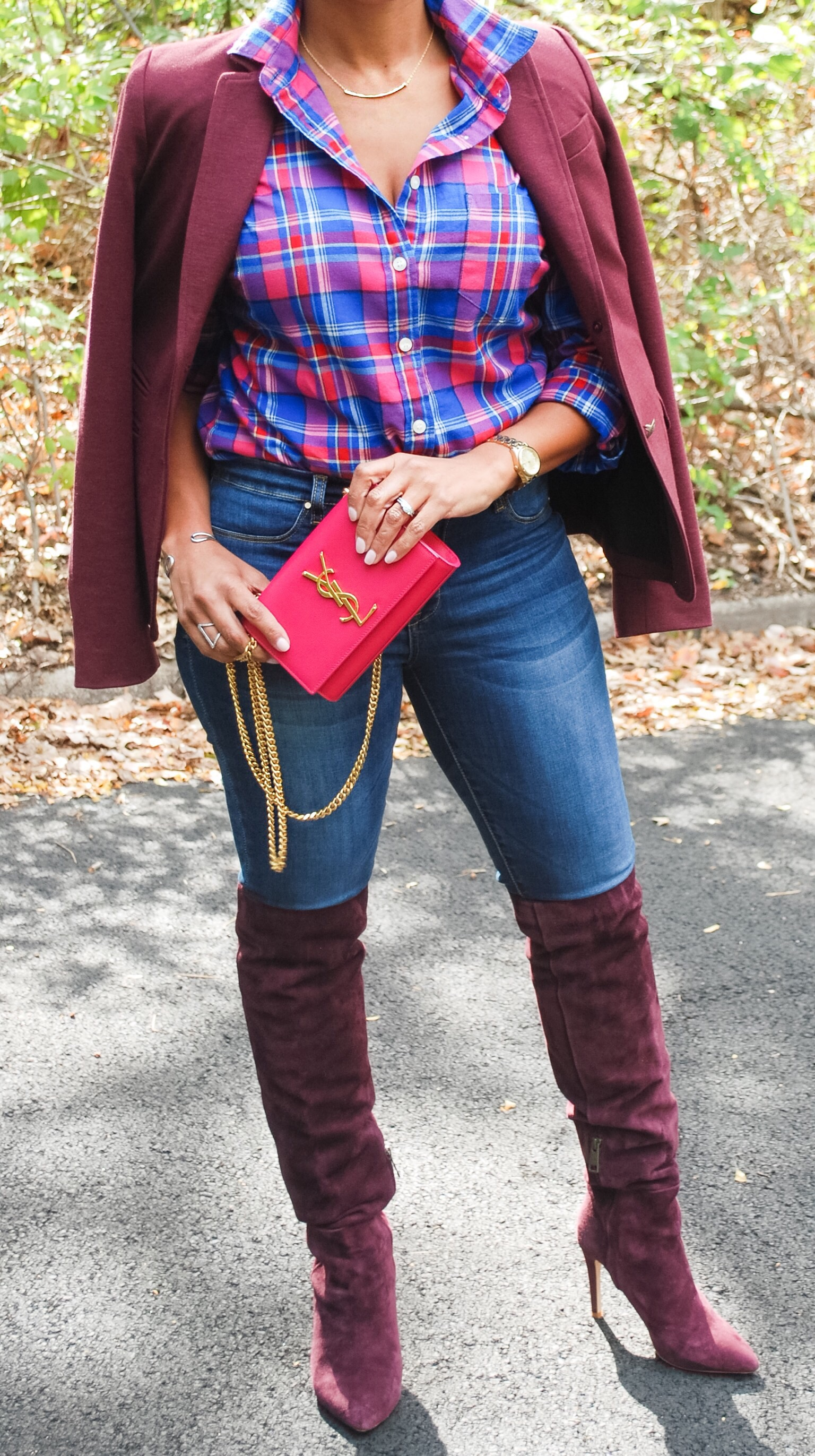 Burgundy Over the Knee Boots 4